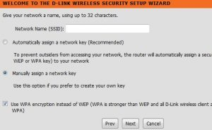 D-Link wireless security setup