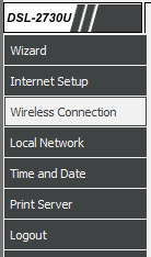 D-link wireless screenshot