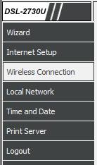 D-link wireless screenshot