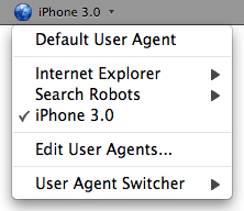 User Agent Switcher Add-on Firefox