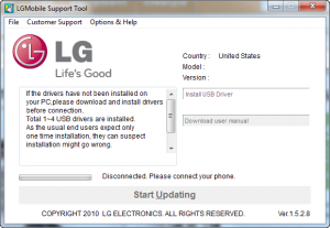 LG mobile support tool lg p500 android gingerbread upgrade