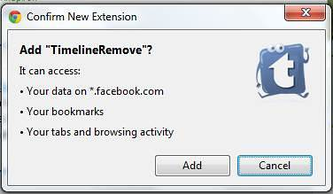 add timeline remove google chrome