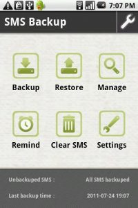 SMS Messages Backup Restore Android