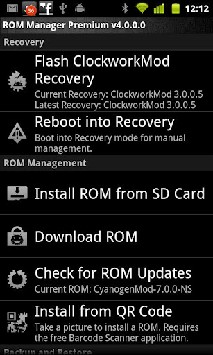 Clockworkmod Rom Manager
