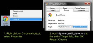 Google Chrom SSl Error apk downloader