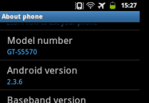 Samsung Galaxy Mini Pop Android 2.3.6 Gingerbread About Phone Details