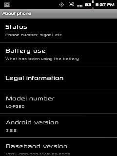install Honeycomb 3.2.2 custom rom on lg optimus me p350