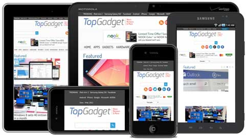 top gadget wordpress theme review mobile - photos