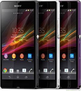 Sony xperia z black white purple root photos
