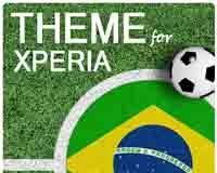 Download Brazil Football Xperia Theme