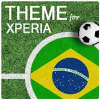 Download Brazil Football Xperia Theme