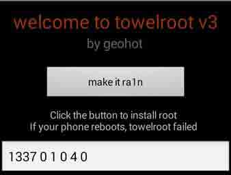 Towelroot - Fix Phone isn't currently supported