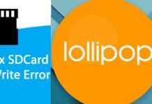 Fix External SD Card Write Error lollipop