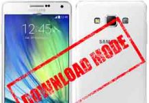 Download Mode in Samsung galaxy A7