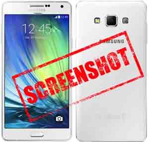 Take capture screenshot in Samsung Galaxy A7 Android Smartphone
