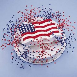 july 4th fireworks cake to decorate party and treat