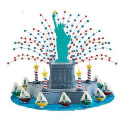Lady Liberty cake for july 4th independence day USA