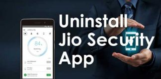 Uninstall or remove jio security app
