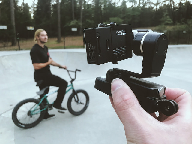 Gimbals testing for go pro cameras