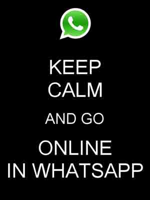 make whatsapp always online