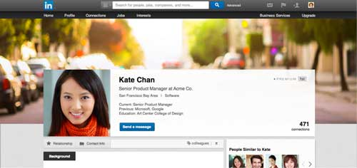 Linkedin background image tips examples